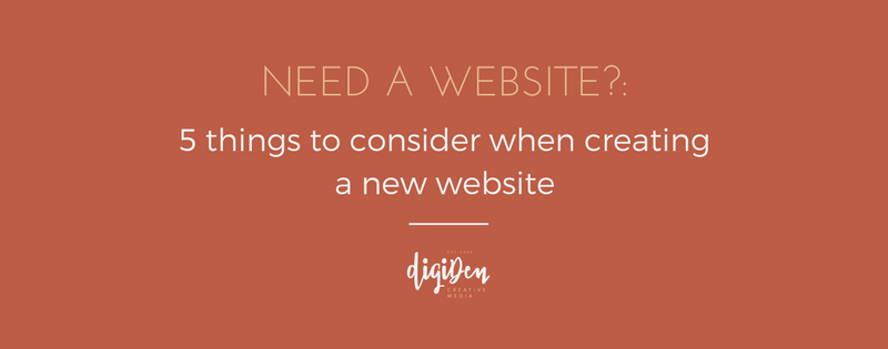 5 things to consider when creating a new website