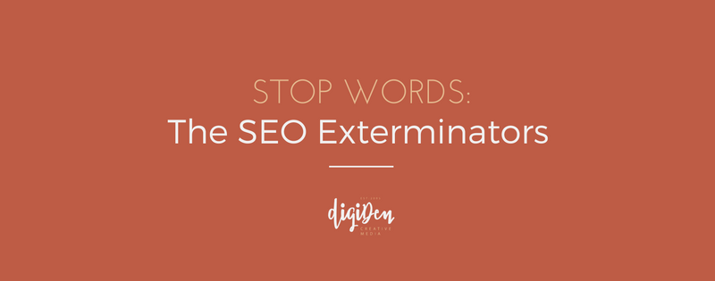 stop words - the SEO exterminators