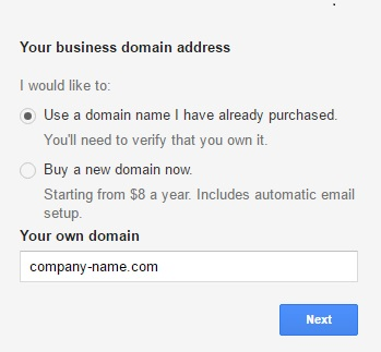 how to set up a google suite account