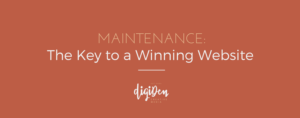 Maintenance-The Key to a Winning Website