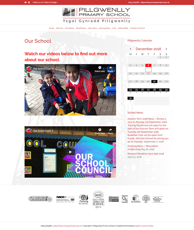 Pillgwenlly-Primary-School-Website-Design-Our-School