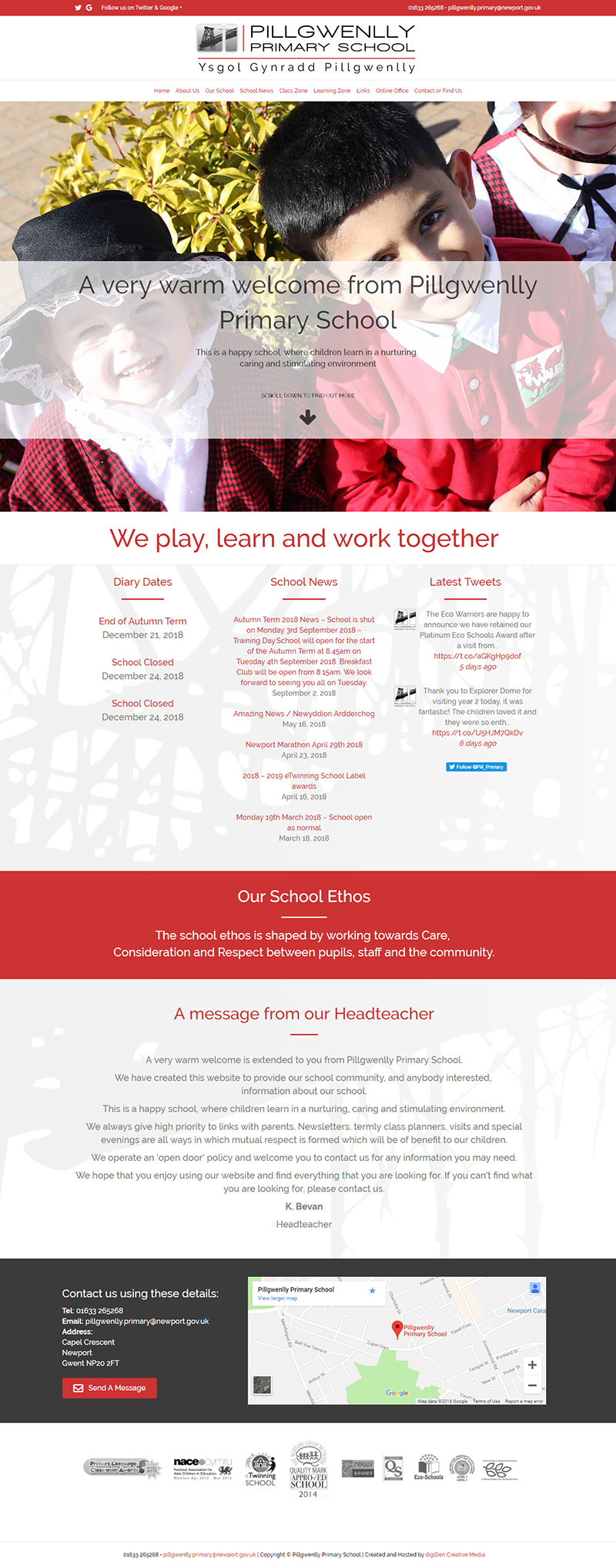 Pillgwenlly-Primary-School-Website-Design