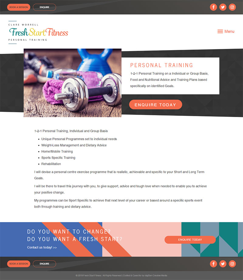 Fresh-Start-Fitness-Bristol-Website-Design
