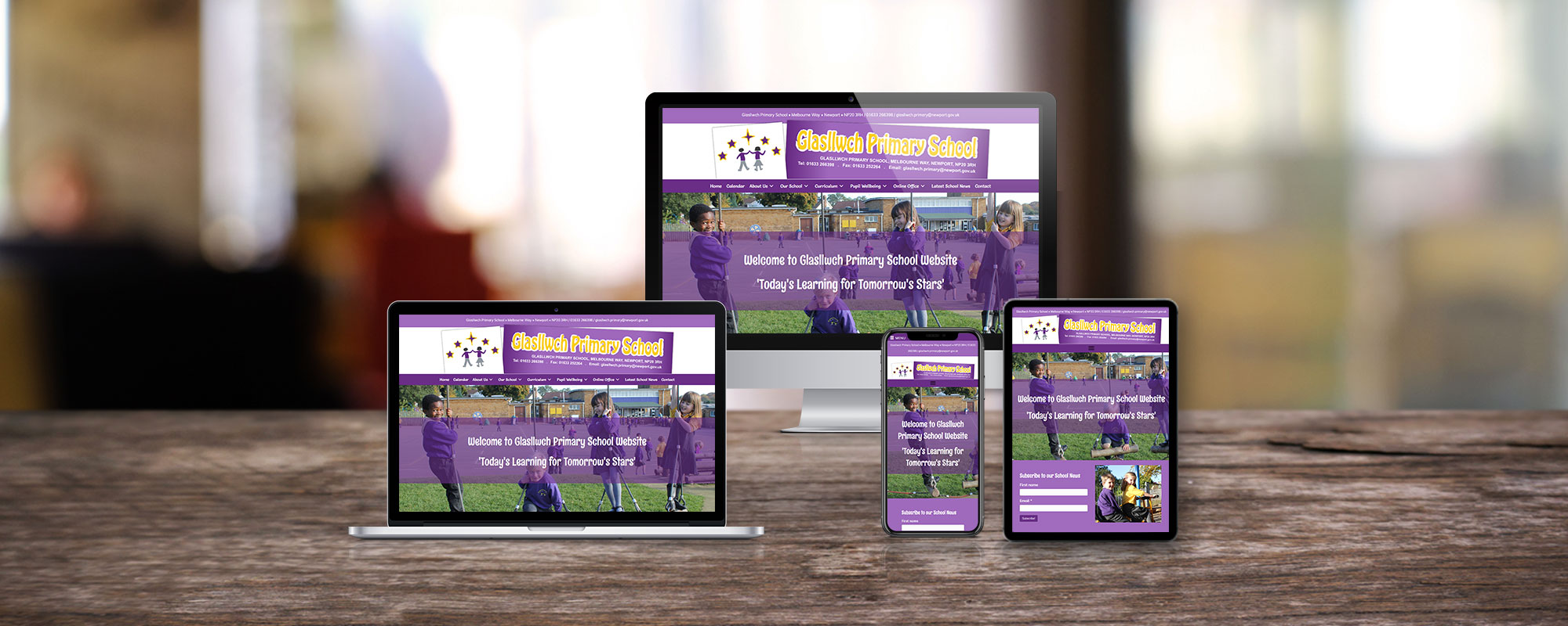 Glasllwch Primary School Web Design