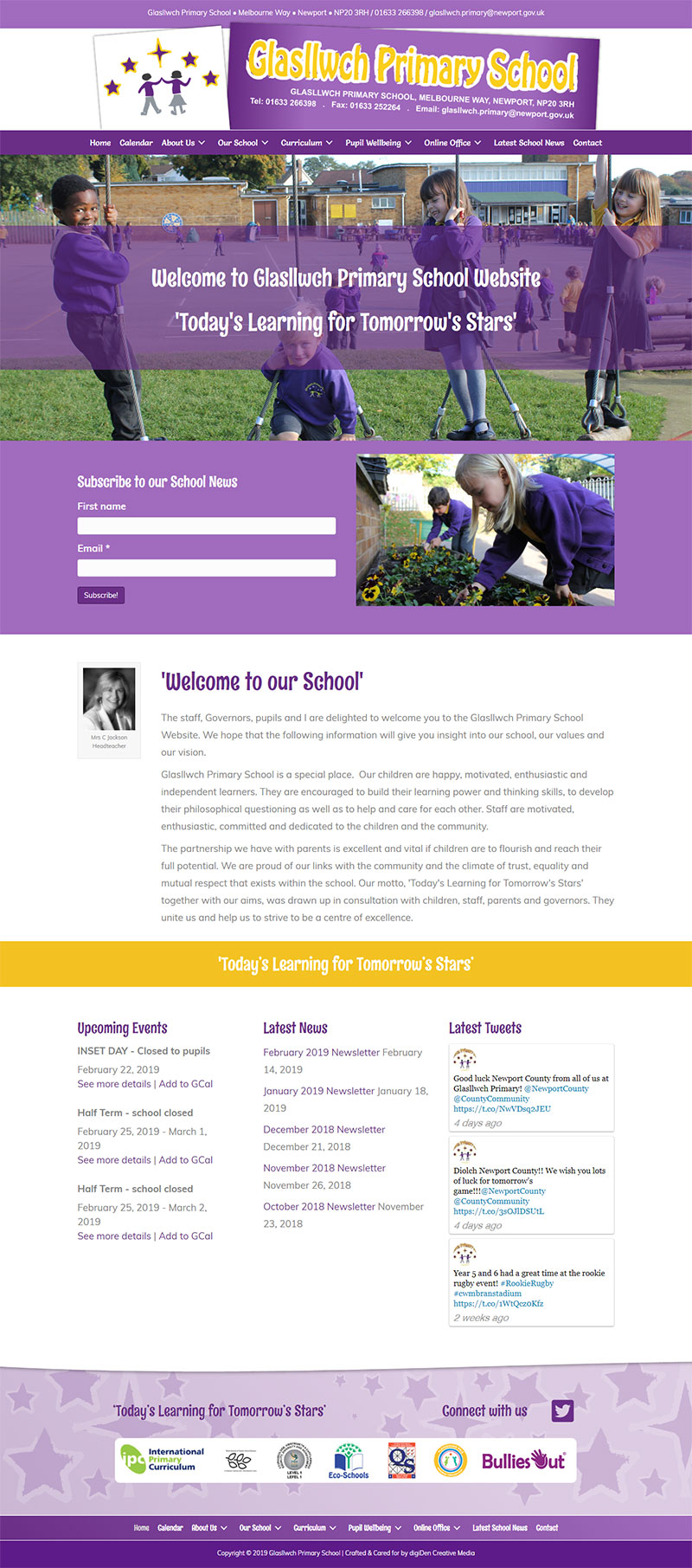 Glasllwch-Primary-School-Website-Design