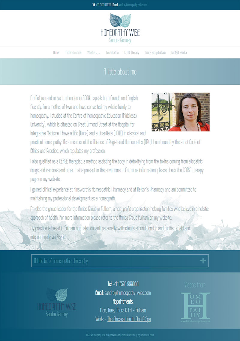 Homeopathy-Wise-Website-Design