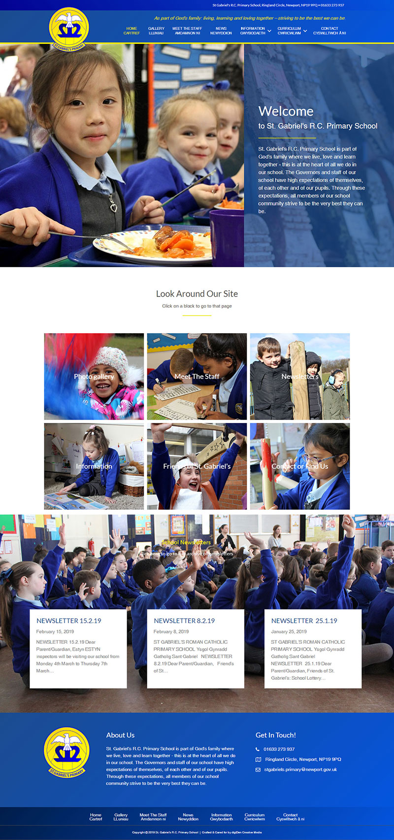 St-Gabriels-Primary-School-Website-Development